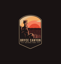 Emblem patch logo bryce canyon national park vector