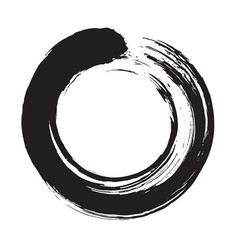 enso zen circle brush vector image