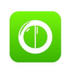 Face powder female icon green vector