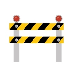 fence light construction isolated icon vector image