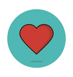 Flat heart icon vector