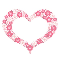 flower heart form vector image