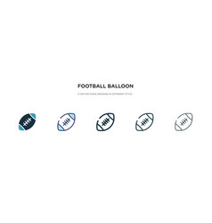 Football balloon icon in different style two vector