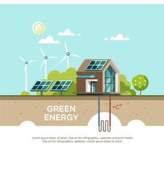 Green energy Eco friendly house vector