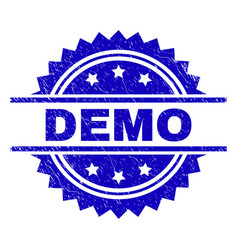 Grunge textured demo stamp seal vector