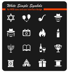 Hanukkah icon set vector