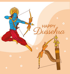 Happy dussehra festival india vector