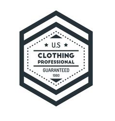 hexagon vintage hipster badge logo design vector image