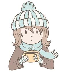 Hot Cocoa Girl vector