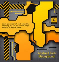 Industrial tech construction background vector
