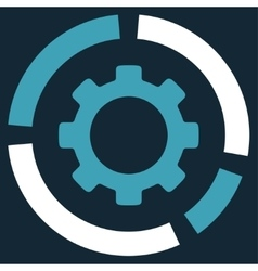 Industry Diagram Icon vector