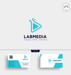 laboratory logo template and business card vector image