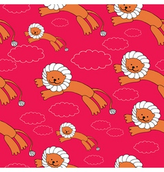 lion pattern vector image