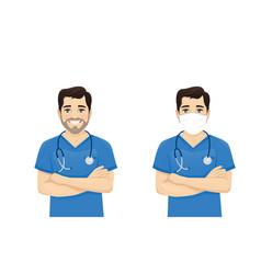 male nurse character vector image