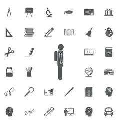 man backpack icon eps10 education set vector image