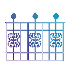 metal building fence icon vector image