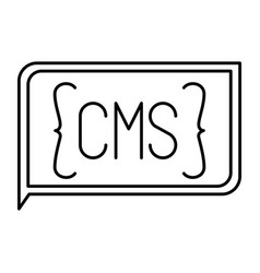 Monochrome silhouette of rectangle text cms vector