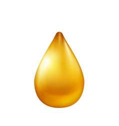 Oil drop isolated on white background vector