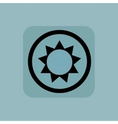 Pale blue sun sign vector
