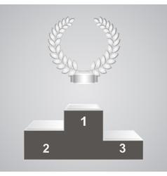 Pedestal and laurels vector