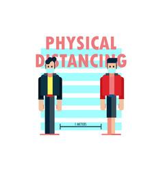 Physical distancing 1 meter cartoon vector