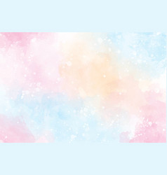 Pink multi color sweet candy valentines wet wash vector