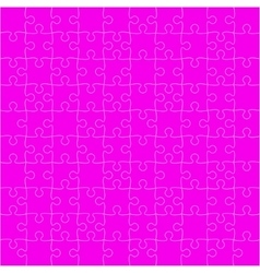 Pink Puzzles Pieces Square GigSaw - 100 vector image