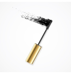 Realistic Mascara Brush Strokes vector