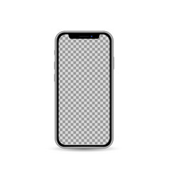 Realistic smartphone template with blank screen vector