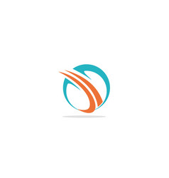 round abstract curve company logo vector image