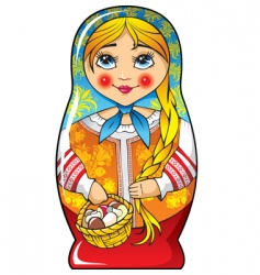 Russian Matryoshka doll vector