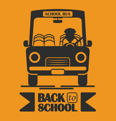 School bus icon back to school desing vector