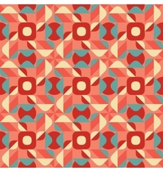 Seamless Blue Pink Color Geometric Ethnic vector