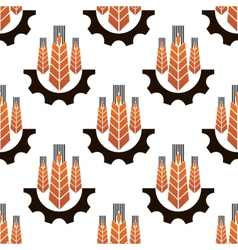 Seamless pattern of agriculture emblem vector