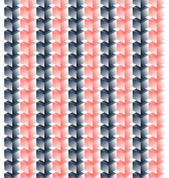 seamless pattern pink and black cubes red vector image