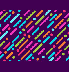 seamless pattern with colorful lines and dots vector image