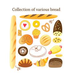 Set different bread vector