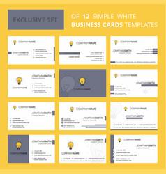 set of 12 seo bulb creative busienss card vector image