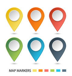 Set of map pointers gradient markers vector