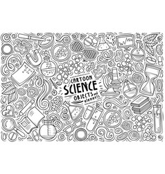 set science theme items objects vector image