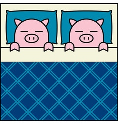 Sleeping Pig Couple vector