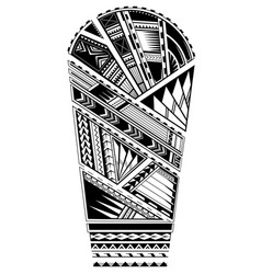 Sleeve tattoo polynesian style vector