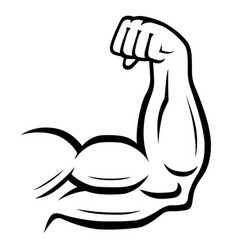 Strong arm icon fitness bodybuilding concept vector