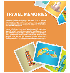 Travel memories flat web banner vector