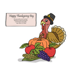 turkey for thanksgiving vector image