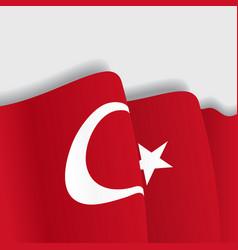 Turkish waving Flag vector image