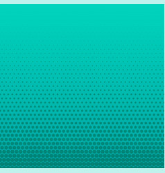 Turquoise halftone dots empty background vector