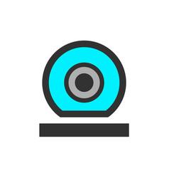 video surveillance web camera vector image
