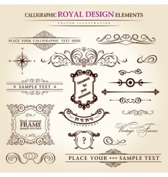 Vintage calligraphy vector