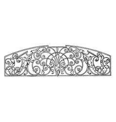 wrought-iron grill panel is a late german vector image